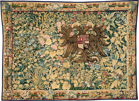 Tapestry featuring the crest of Emperor Charles V, 1540