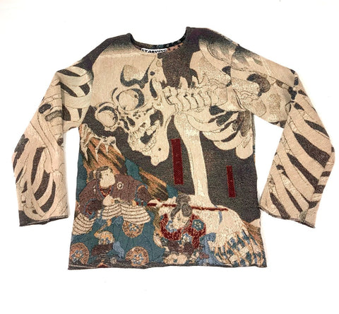 Starving Specter Woven Tapestry Crewneck