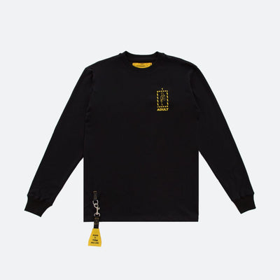 LOSTSIGNAL BLACK AIRCRAFT LIFE VEST LONG SLEEVE TEE - TRILL Marketplace