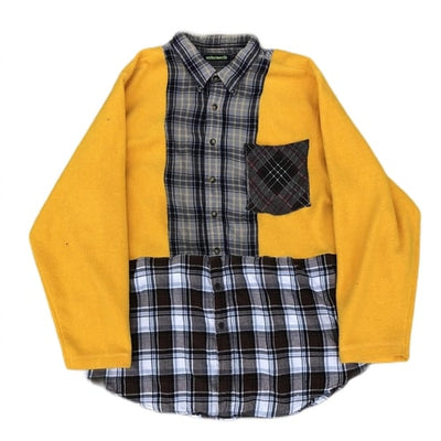 Yellow Fleece Flannel - TRILL Marketplace