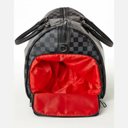 SHARKS IN PARIS (BLACK CHECKERED EDITION) DUFFLE