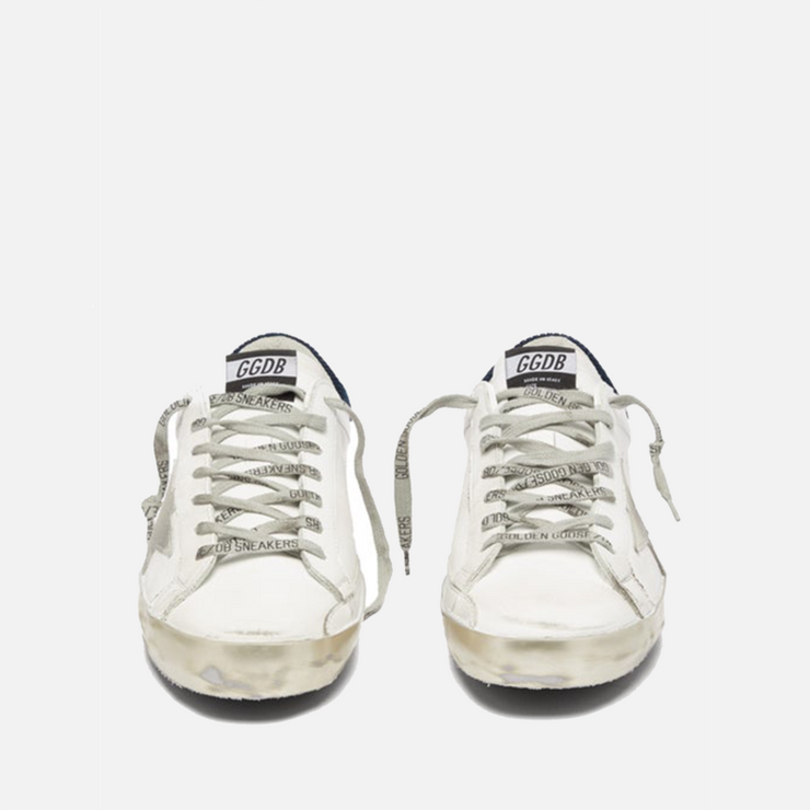GOLDEN GOOSE SUPERSTAR LEATHER AND CORDUROY LOW-TOP TRAINERS