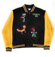 Smocksons Black & Yellow Embroidered Varsity Jacket - TRILL Marketplace