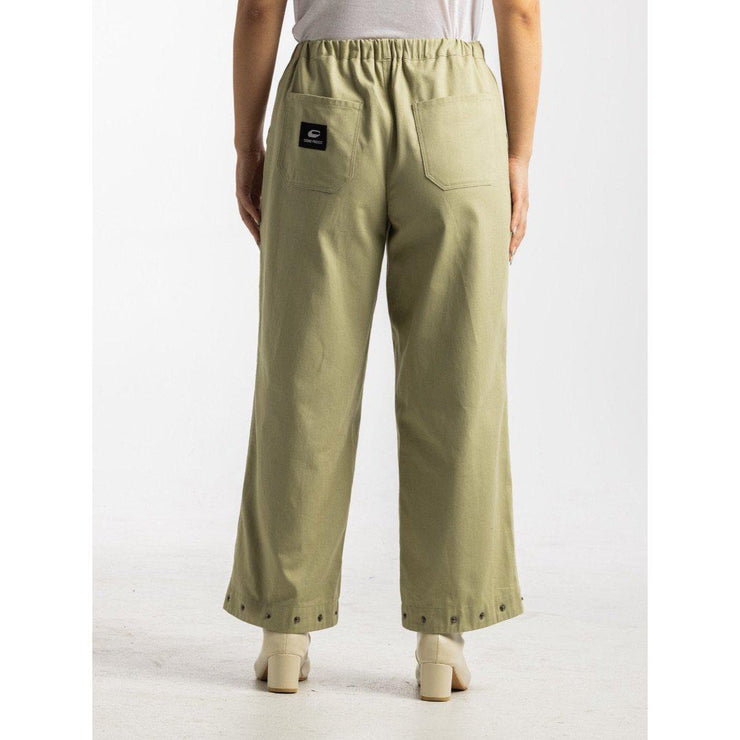 Convertible Wide Leg Capris [Sage] - TRILL Marketplace