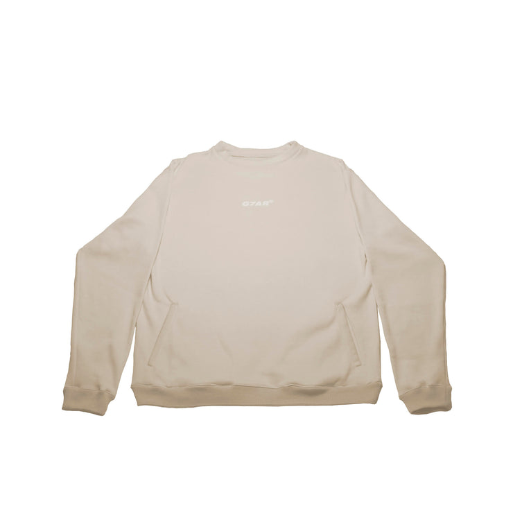 Cream Crewneck Sweater - TRILL Marketplace