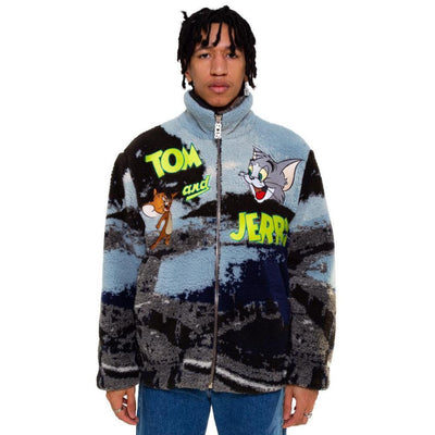 Tom & Jerry Napoli Pile Jacket - TRILL Marketplace