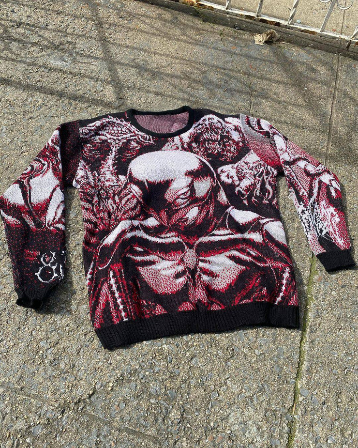Berserker V2 Knit Sweater Red - TRILL Marketplace