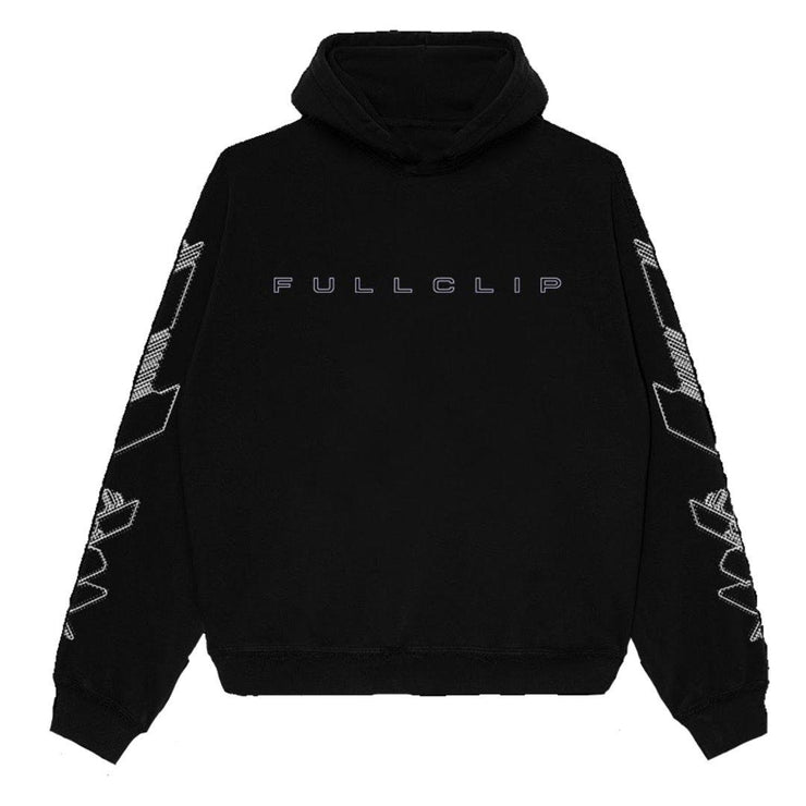 Embroidered Heavyweight Quick Strike Hoodie in Black - TRILL Marketplace