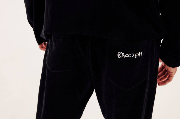 BLACK VELOUR 'SELF TAILORABLE' BOTTOMS - TRILL Marketplace