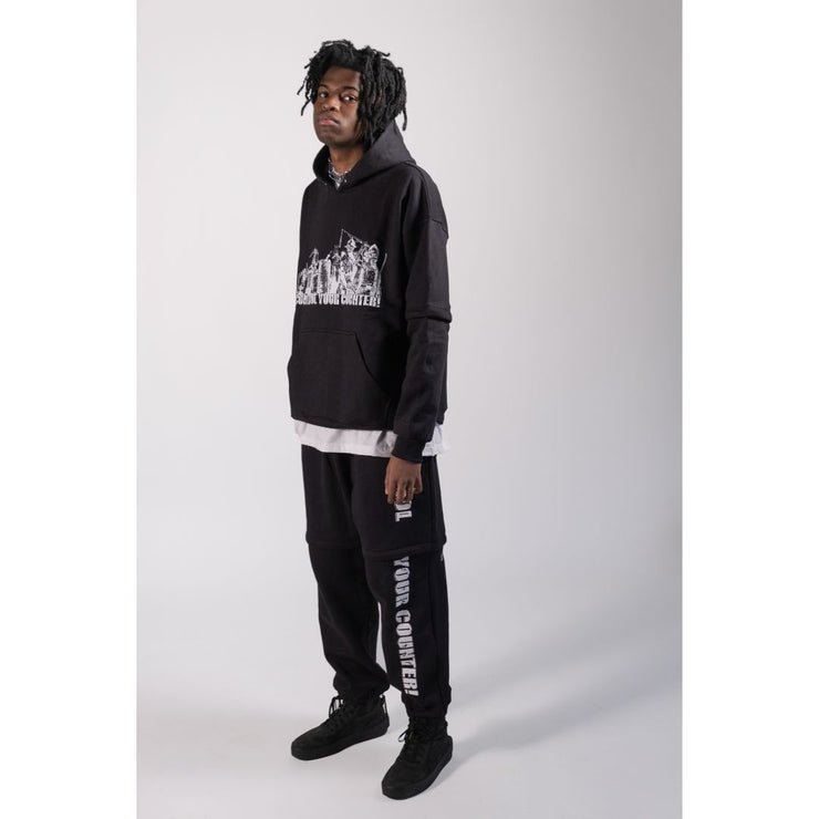 Control Your Counter Black Sweat Pants - TRILL Marketplace