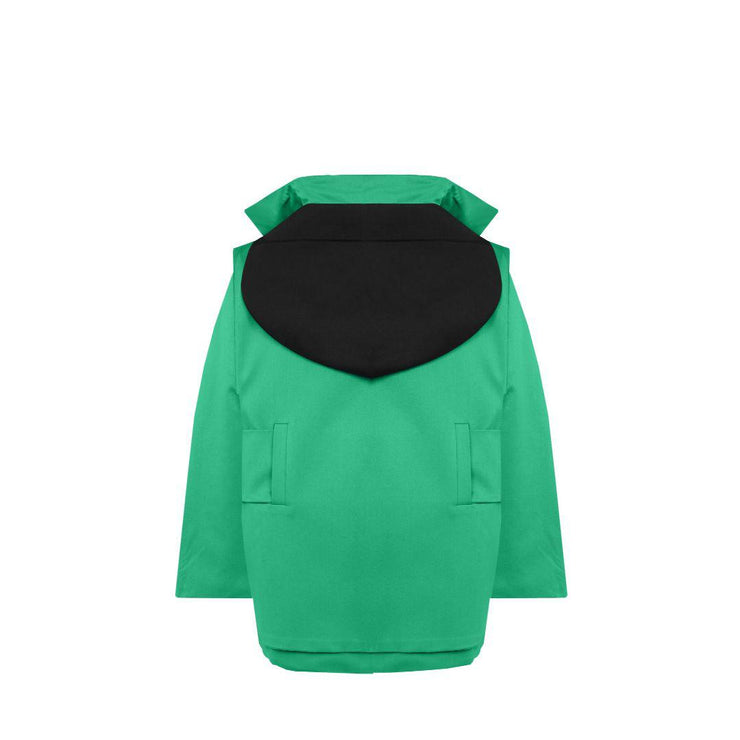 Genderless Midi Downy Jacket - Green - TRILL Marketplace