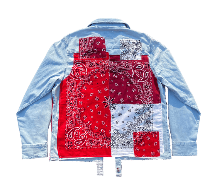 Red Paisley Patchwork Shirt