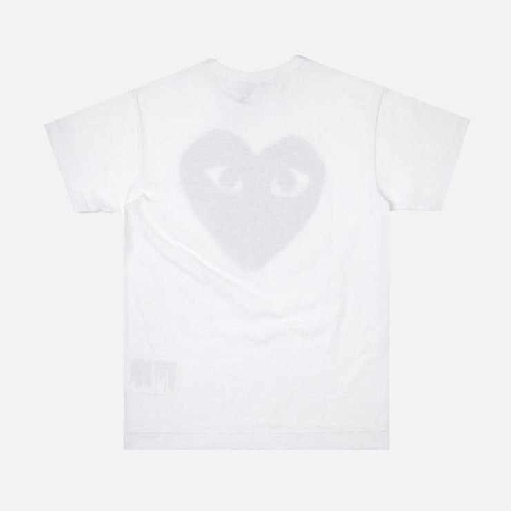 CDG PLAY BIG BLACK HEART WHITE TEE - TRILL Marketplace