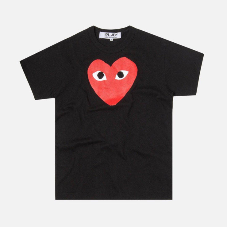 CDG PLAY BIG RED HEART BLACK TEE - TRILL Marketplace