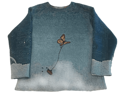 Clouds Woven Tapestry Crewneck