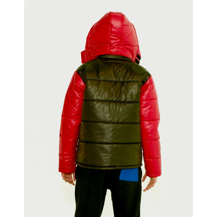 Red Smock Me Puffer Jacket - TRILL Marketplace
