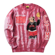 SMILEY CHAMPIONS VARSITY BEAR CREWNECK (RED) - TRILL Marketplace