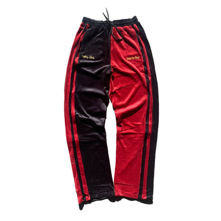 QTFL RED CARPET VELOUR PANTS - TRILL Marketplace