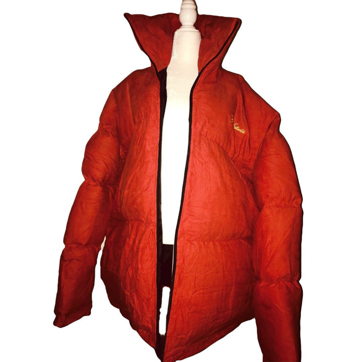 Frost Frill Puffer Jacket II (RED) - TRILL Marketplace