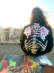 Candy Bones Hand Painted Bomber - TRILL Marketplace