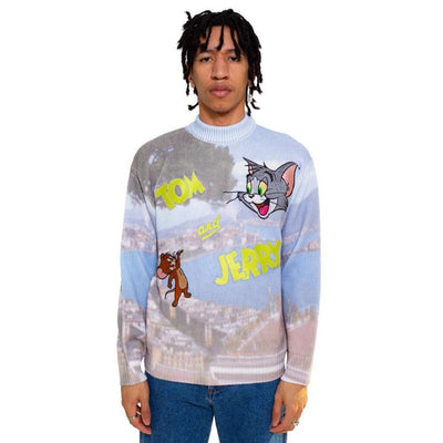 Tom & Jerry Napoli Logo Sweater - TRILL Marketplace