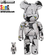BANKSY FLOWER BOMBER 400% + 100% - BE@RBRICK - TRILL Marketplace