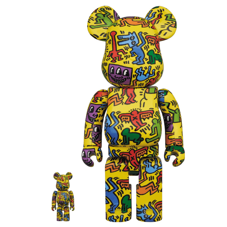 KEITH HARING 400%+100% (YELLOW COLORS) BY BEARBRICK - TRILL Marketplace