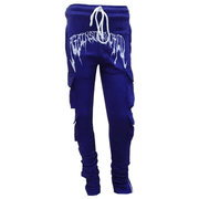 """DEEP PURPLE"" EXTENDED CARGO SWEATPANTS"