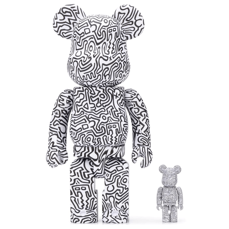 KEITH HARING 400% + 100%  - BEARBRICK - TRILL Marketplace