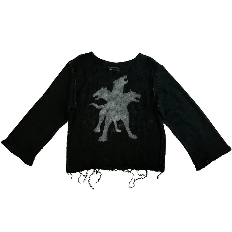CERBERUS KNITTED SWEATER BLACK