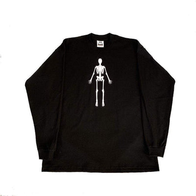 SKELETON LONG SLEEVE- BLACK