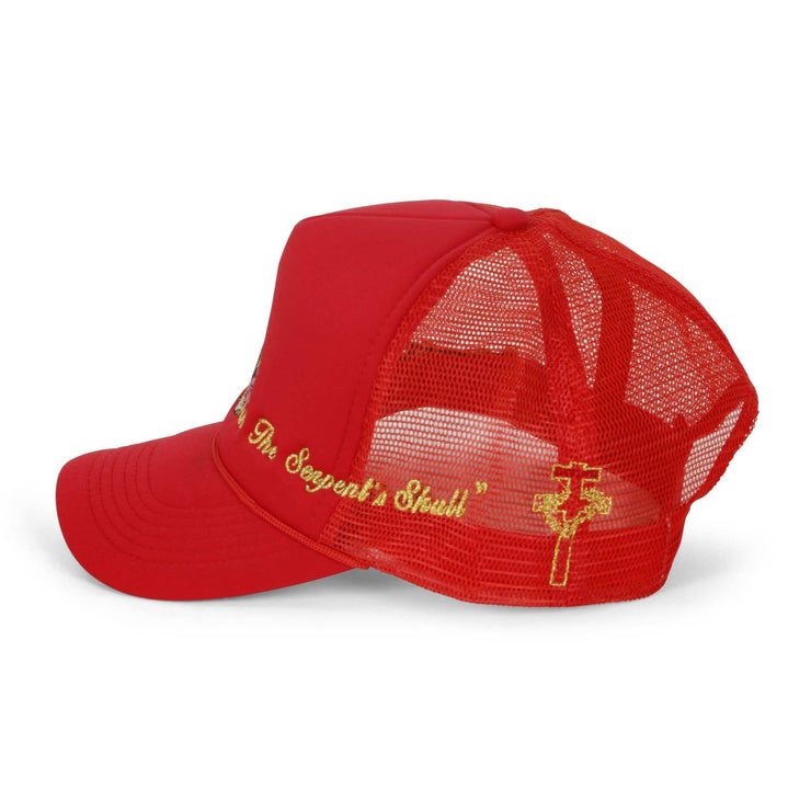 Virgin Mary Trucker Hat (Red)