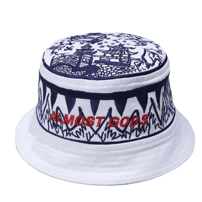 Blue Sea Pottery Bucket Hat - TRILL Marketplace
