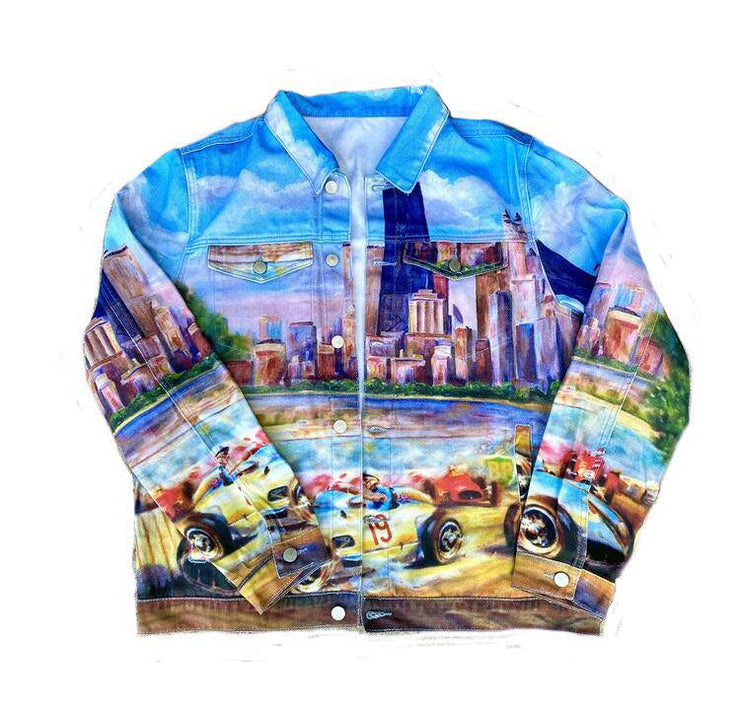 Chicago Grand Prix Denim Jacket - TRILL Marketplace