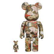 ITO JAKUCHU PEONIES AND SMALL BIRDS 400% + 100% BEARBRICK - TRILL Marketplace