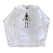 SKELETON LONG SLEEVE- WHITE