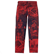 NEGATIVE FEED DENIM PANTS 002 (RED)