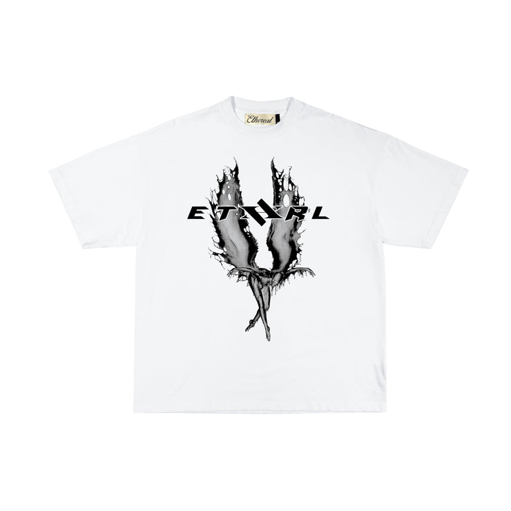 ETHEREAL PHANTASM TEE - WHITE/BLACK - TRILL Marketplace