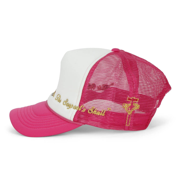 Virgin Mary Trucker Hat (Pink/White) - TRILL Marketplace