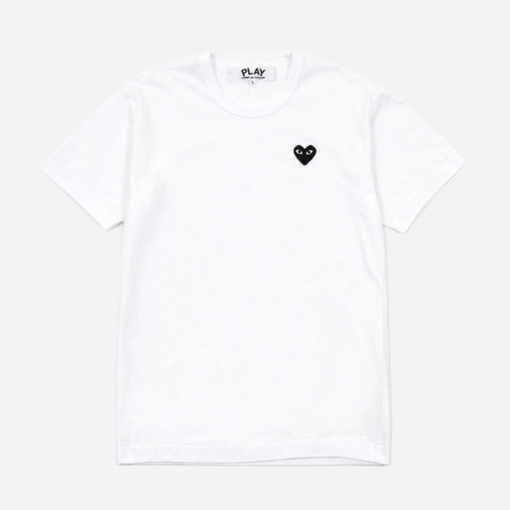 CDG PLAY BLACK SMALL HEART WHITE TEE - TRILL Marketplace