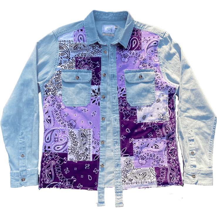 Purple Paisley Patchwork Shirt