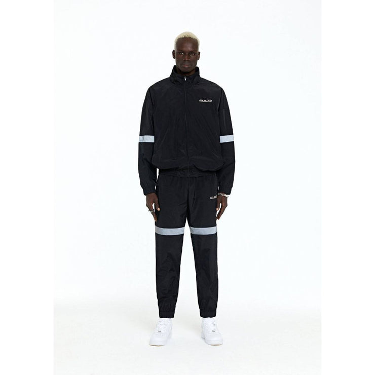 BLACK LOGO TRACKSUIT PANTS