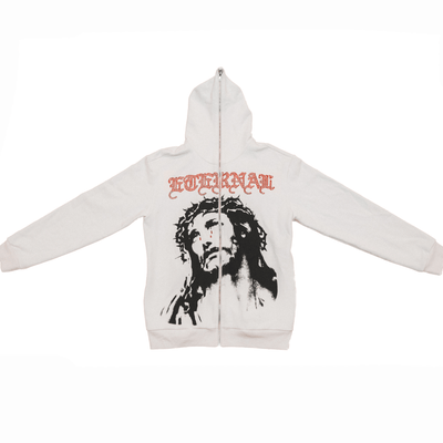 CRY OF CHRIST SWAROVSKI  ZIP UP HOODIE - TRILL Marketplace