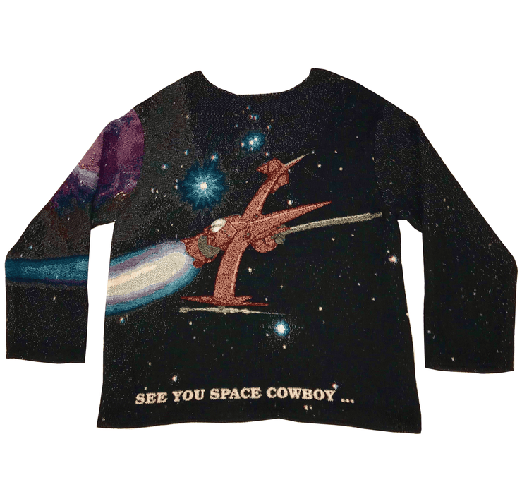 Space Cowboy Woven Tapestry Crewneck