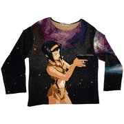 Space Cowboy Woven Tapestry Crewneck - TRILL Marketplace
