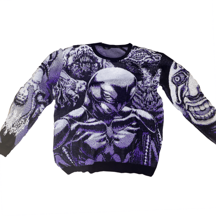 Berserker V2 Knit Sweater Purple - TRILL Marketplace