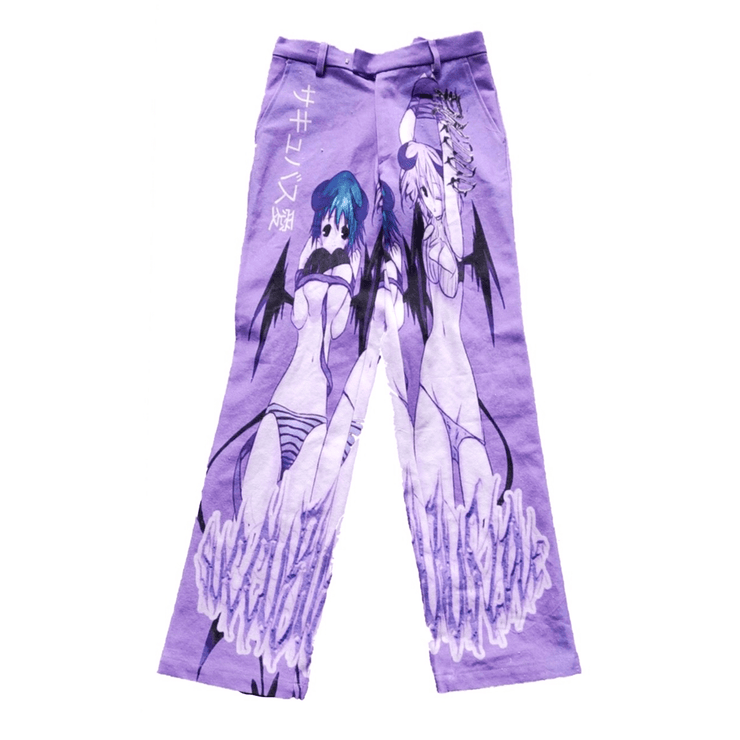 Purple Sexy Demon Trousers - TRILL Marketplace