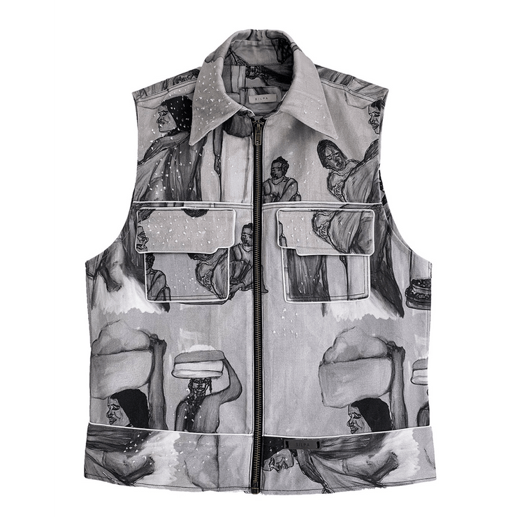 KHAMARA DENIM VEST - TRILL Marketplace