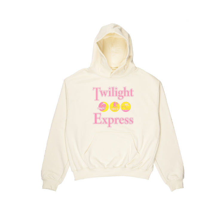 ETHEREAL TWILIGHT EXPRESS HOODIE - OATMEAL/PINK - TRILL Marketplace