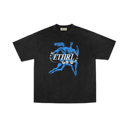 ETHEREAL UENO TEE - BLACK/ROYAL - TRILL Marketplace